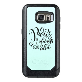 Paris Is Always A Good Idea Script OtterBox Samsung Galaxy S7 Case