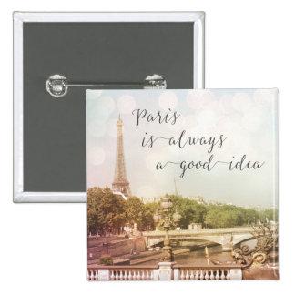Paris Is Always A Good Idea | Square Button