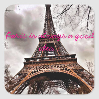 """Paris is always a good idea"" sticker sheet"