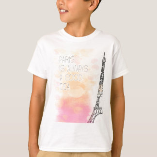 PARIS IS always good idea, watercolor T-Shirt
