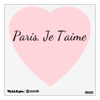 Paris, Je T'aime Heart Decal