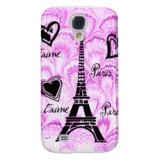 Paris, je t'aime in pink watercolor