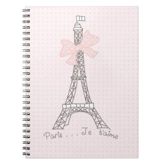 Paris je t'aime spiral notebook