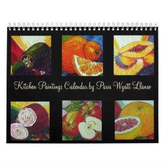 Paris' Kitchen Paintings Calendar