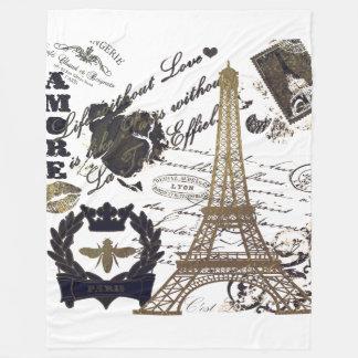 Paris: La Tour Eiffel Fleece Blanket
