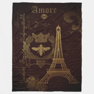 Paris: La Tour Eiffel Fleece Blanket