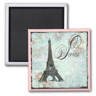 Paris La Tour Eiffel French Design Square Magnet