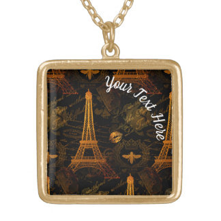 Paris: La Tour Eiffel Gold Plated Necklace