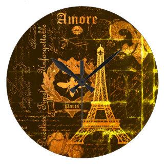 Paris: La Tour Eiffel Large Clock