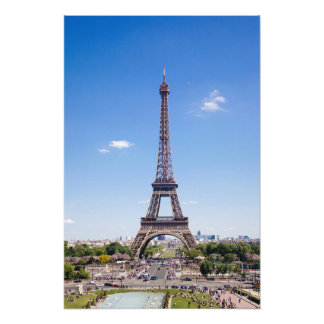 Paris La Tour Eiffel on clear blue sky photograph