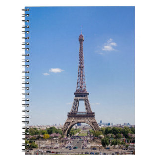 Paris La Tour Eiffel on clear blue sky photograph Note Books