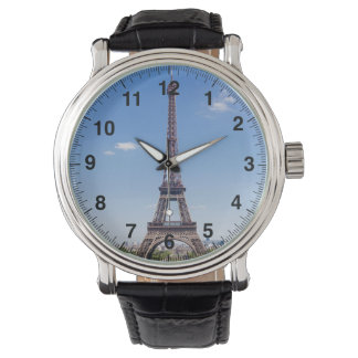 Paris La Tour Eiffel on clear blue sky photograph Wristwatch
