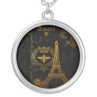 Paris: La Tour Eiffel Silver Plated Necklace