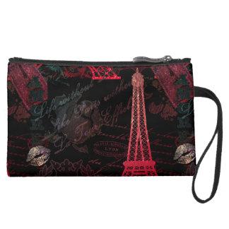 Paris: La Tour Eiffel Suede Wristlet
