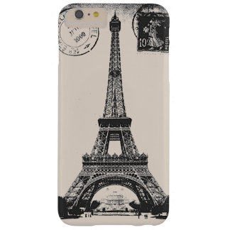 Paris La Tower Eiffel Vintage Postcard Barely There iPhone 6 Plus Case