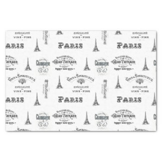 Paris Label Collage Tissue Paper