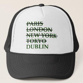 Paris London NYC Tokyo Dublin Trucker Hat