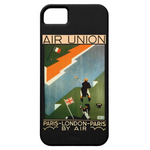 Paris - London - Paris by Air iPhone 5 Cases