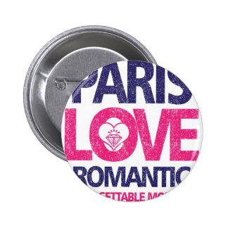paris love 2 inch round button