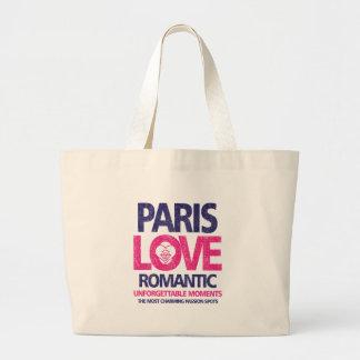 paris love large tote bag