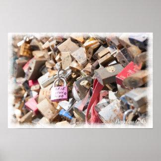 Paris love locks poster