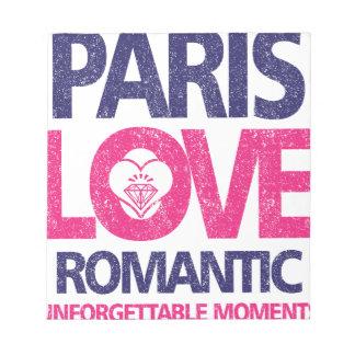 paris love notepad