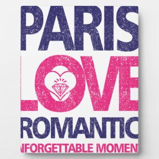 paris love plaque