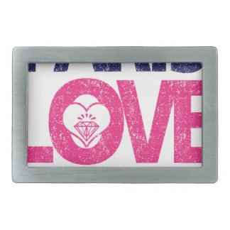 paris love rectangular belt buckles