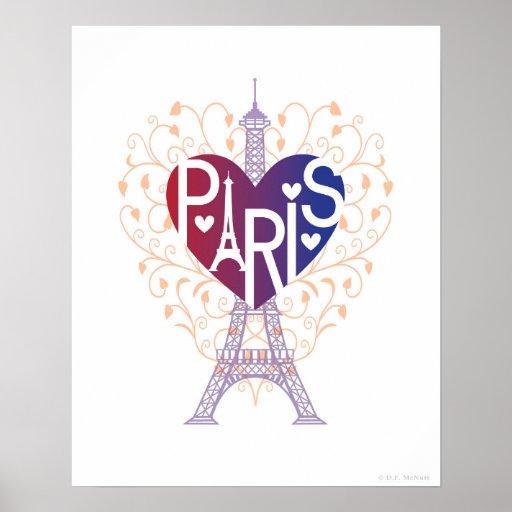 Paris Lover's Heart® Poster