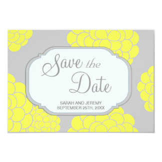 Paris Loves Yellow Flowers Save the Date Budget Card
