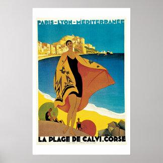 Paris Lyon Mediterranean Vintage Travel Poster