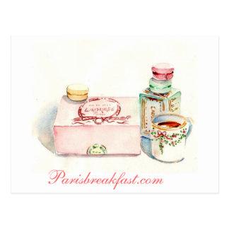 Paris Macaron box by Carol Gillott Postcard