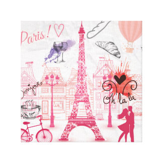 Paris magic canvas print