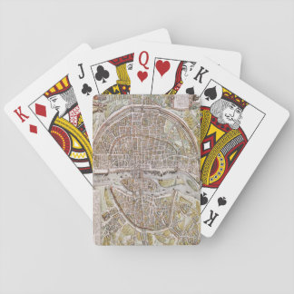 PARIS MAP, 1581 PLAYING CARDS
