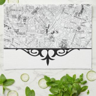 Paris Map Kitchen Towel
