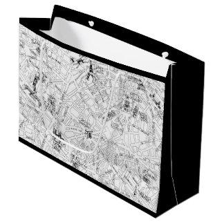 Paris Map Large Gift Bag