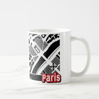 Paris map Mug