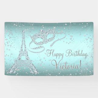 Paris Masquerade Birthday Party Banner