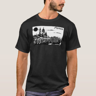 Paris Men's Basic Dark T-Shirt