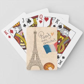 Paris mon amour playing card