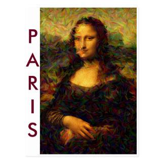 Paris Mona Lisa Postcard