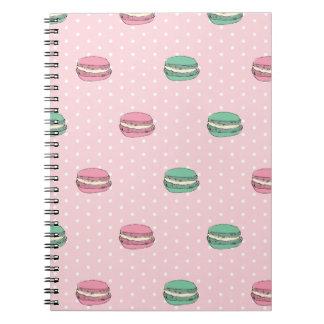 Paris Moon Macaron and polkadots Notebook
