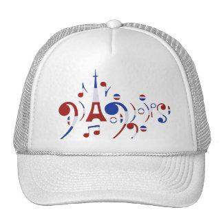 Paris Musical Notes Trucker Hat