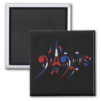Paris Musical Notes Magnet
