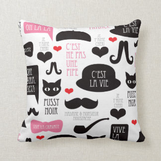 Paris mustache moustache pillow
