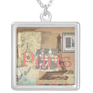 Paris  Necklace Pendant With Eiffel Tower