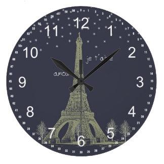 Paris Night Large Clock