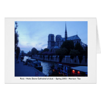 Paris - Notre Dame at Dusk Card
