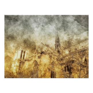 Paris Notre-Dame Cathedral Poster