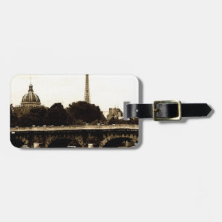 Paris on the Square Luggage Tag